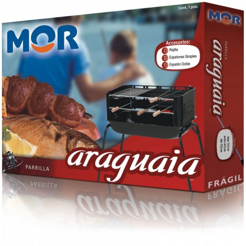 Churrasqueira Araguaia Com 01 Grelha 03 Espetos 01 Duplo Mor