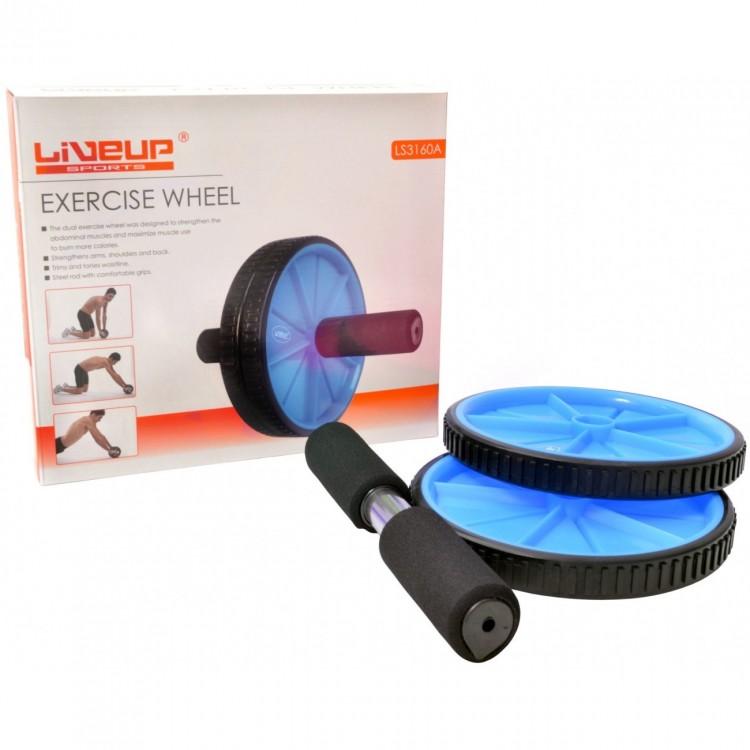 Roda de Exercícios Plus Azul - Liveup