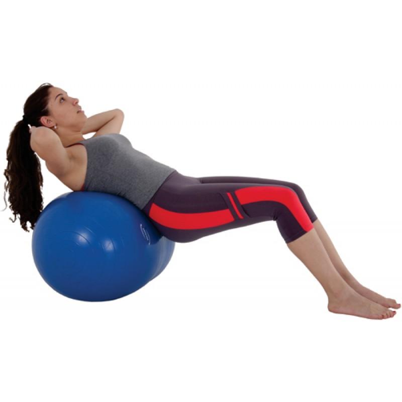 Bola De Ginastica Feijão 90 X 45cm Azul Pilates - Live Up