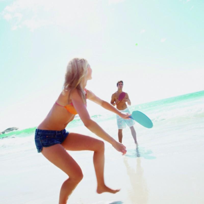 Frescobol Aloha Com Bola - Roxo