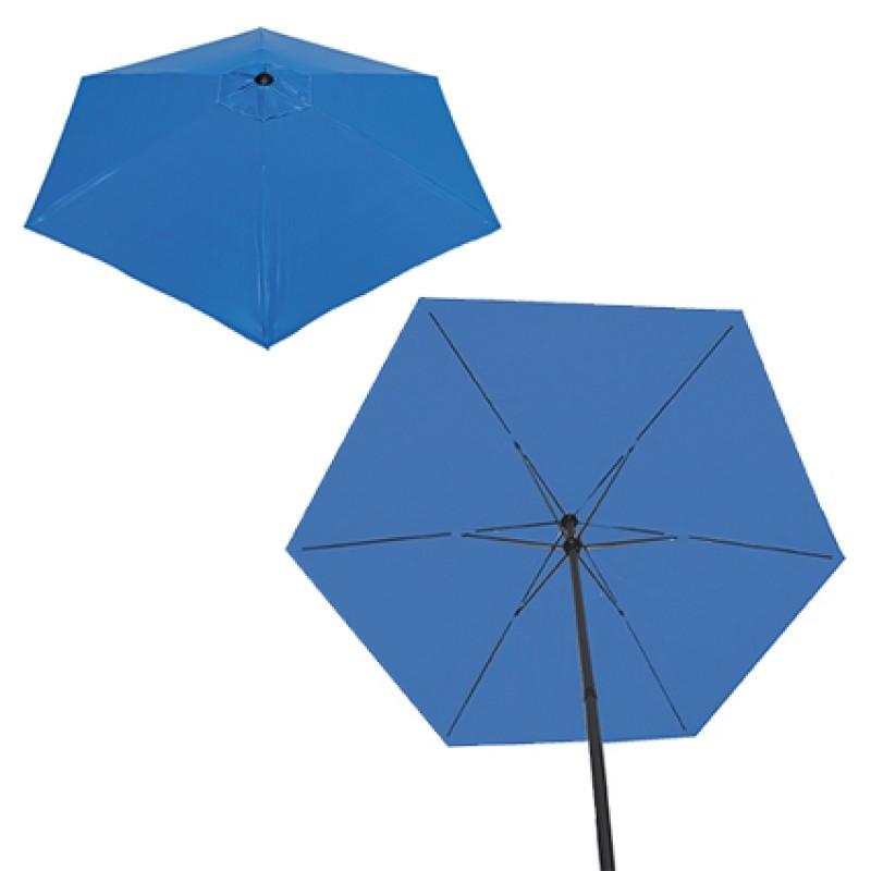Ombrelone Verano Em Aço Mor Com 2,10 Branco Ou Azul - 3745/6