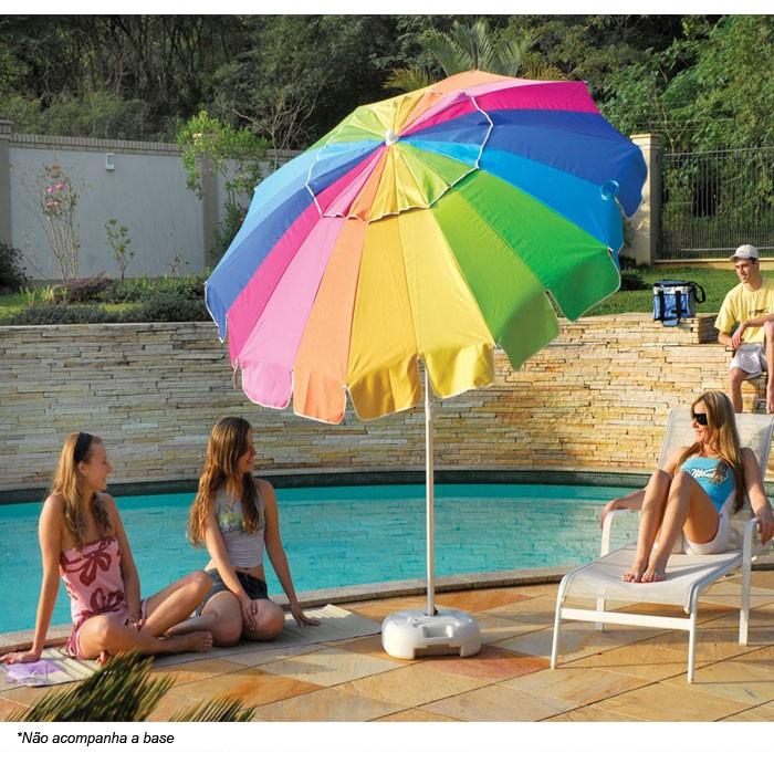 Guarda-sol Mor Rainbow 220cm - Colorido 3731 Praia Camping