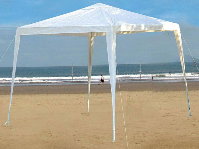 Tenda Gazebo Rafia 3m X 3m Branco Praia Campo - Mor