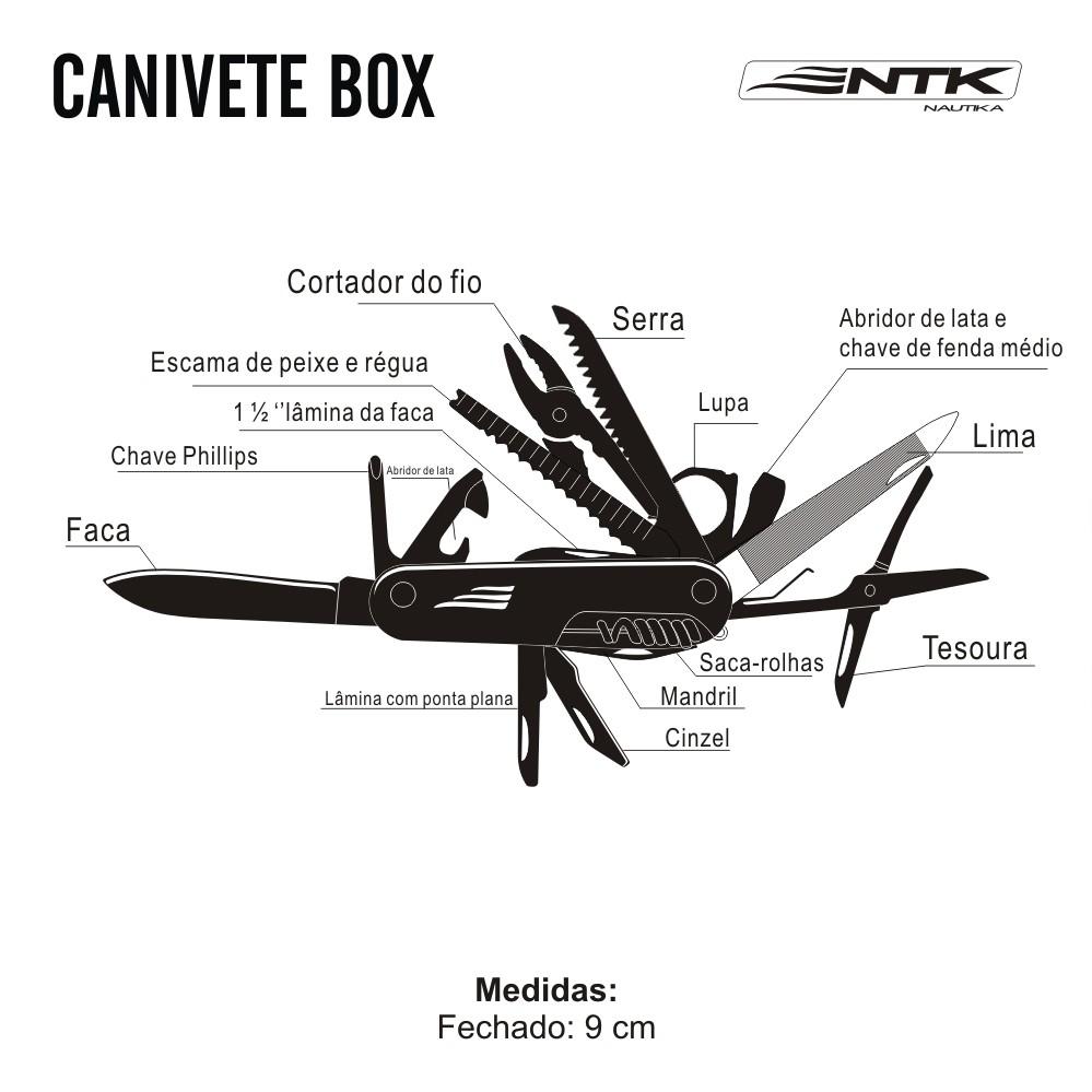 Canivete Box 18 Funções - Nautika