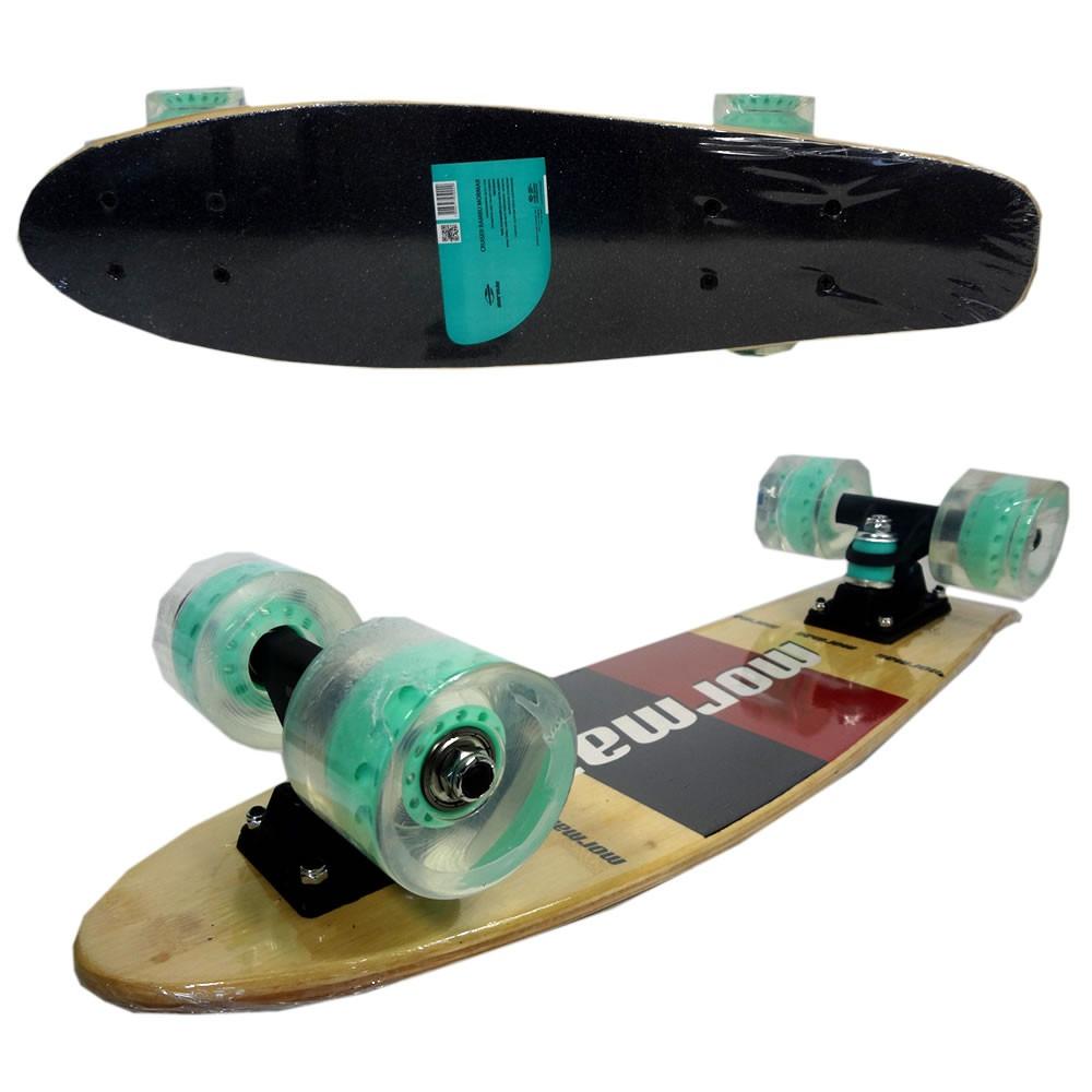 Skate Pro Mini Longboard Retrô Abec 7 Cruiser Bambu Mormaii Vermelho/preto