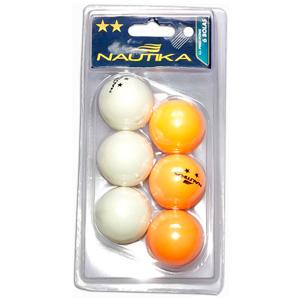 Conjunto 6 unidades de Bolinhas de Ping Pong - Nautika