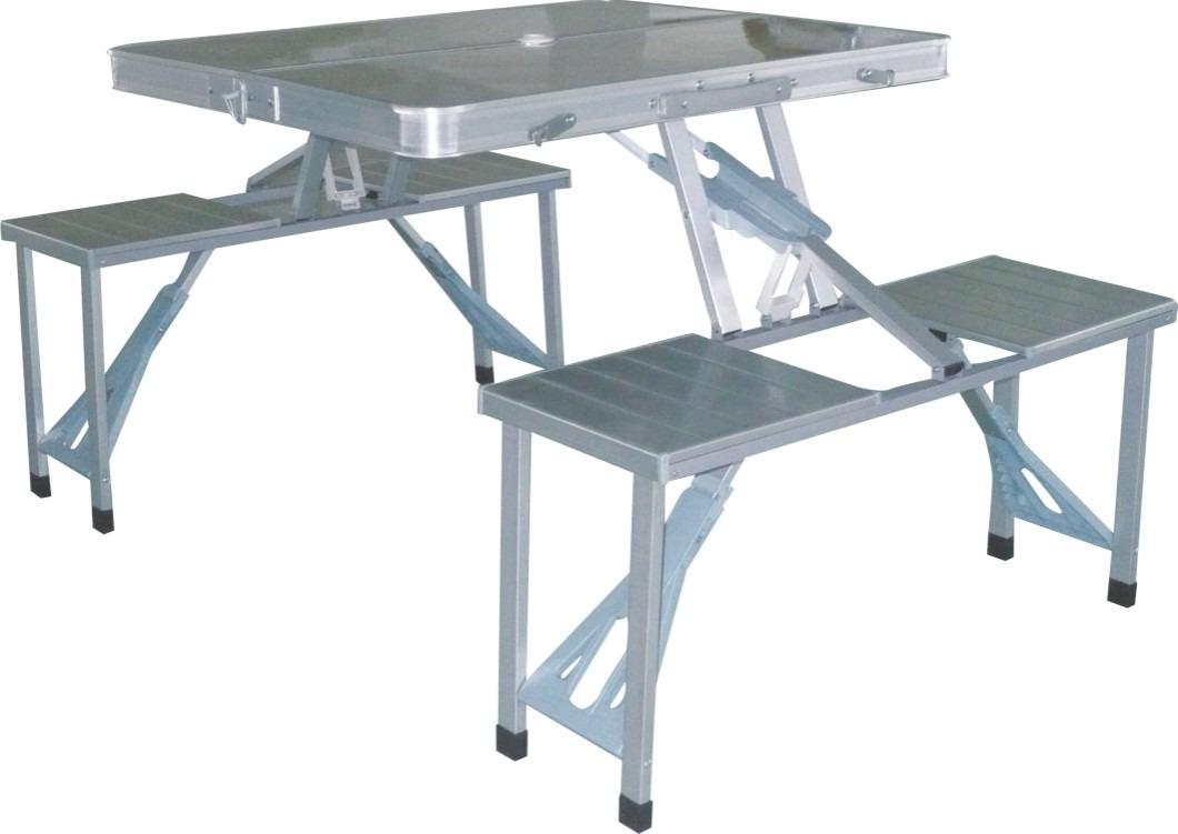 Conjunto Mesa e 4 Cadeiras Dobráveis Konrad - Nautika