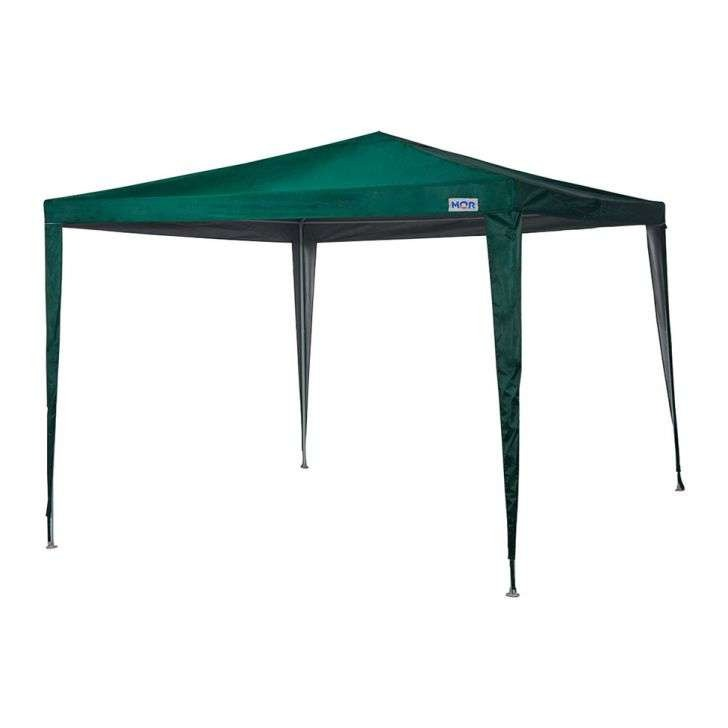 Tenda Gazebo Poliéster Oxford 3m X 3m Verde Ou Azul - Mor