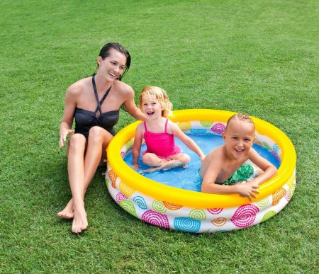 Piscina Inflável Infantil 3 Anéis 288 litros - Intex