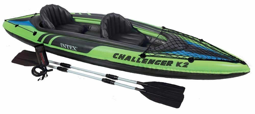 Caiaque Inflável 160kg K2 Challenger Intex Remos 68306