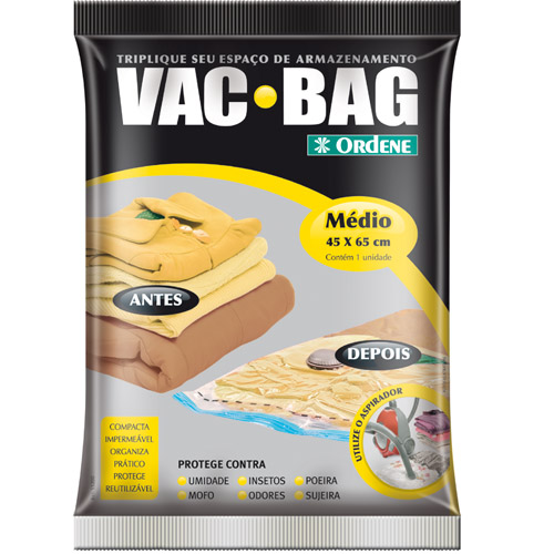 Combo 4 Sacos Vácuo Vac Bag Médio Grande Extra Jumbo Ordene