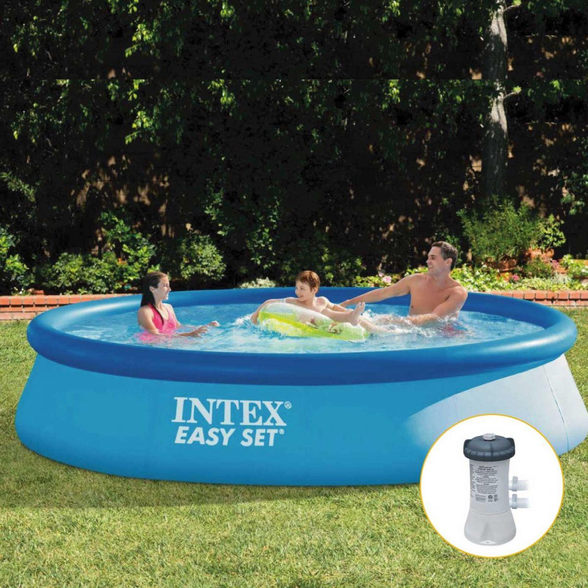 Piscina Inflável Easy Set  7.290 Litros Com filtro - Intex