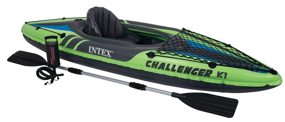 Caiaque Inflável até 100 Kg  Verde - Remos e Bomba Challenger K1- Intex