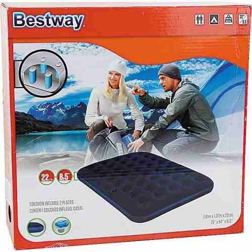 Kit com 2 Colchões Casal Inflável 67002 Bestway + Bomba Inflar