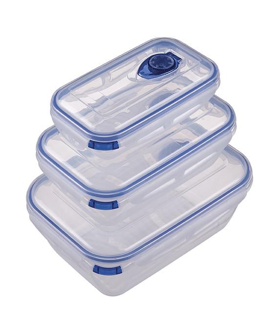 Conjunto Potes Conservante Pequeno Azul ou Verde 500ml 1,3l 2,6l Mor