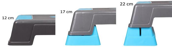 Step Exercitador Aeróbico 70cm 3 Níveis - 12 17 22cm Live Up