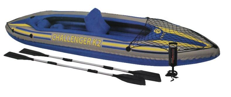 Caiaque Inflável 160kg K2 Challenger Intex Remos Azul