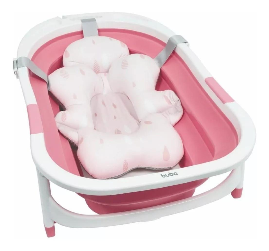 Almofada Para Banho Com Fivela Ajustável Bebê Buba