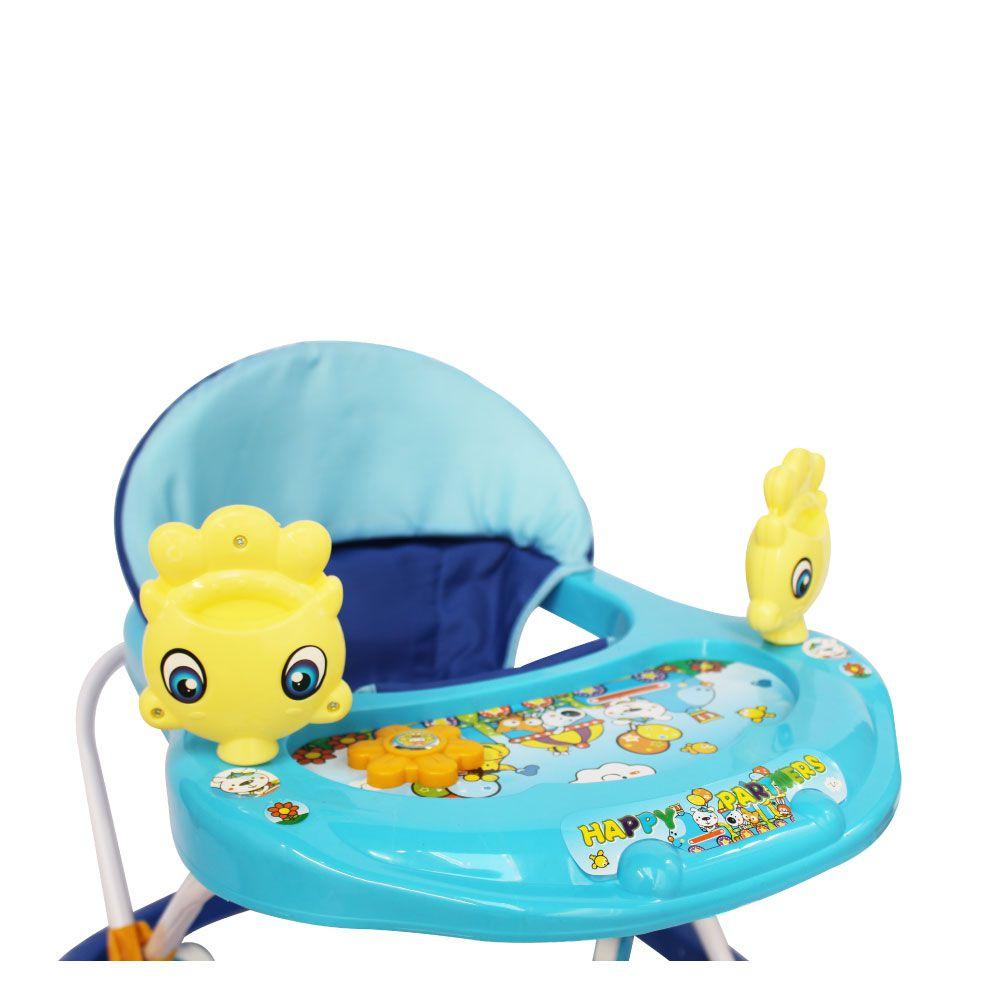 Andador Infantil Musical com Som Altura Regulável Azul - Importado