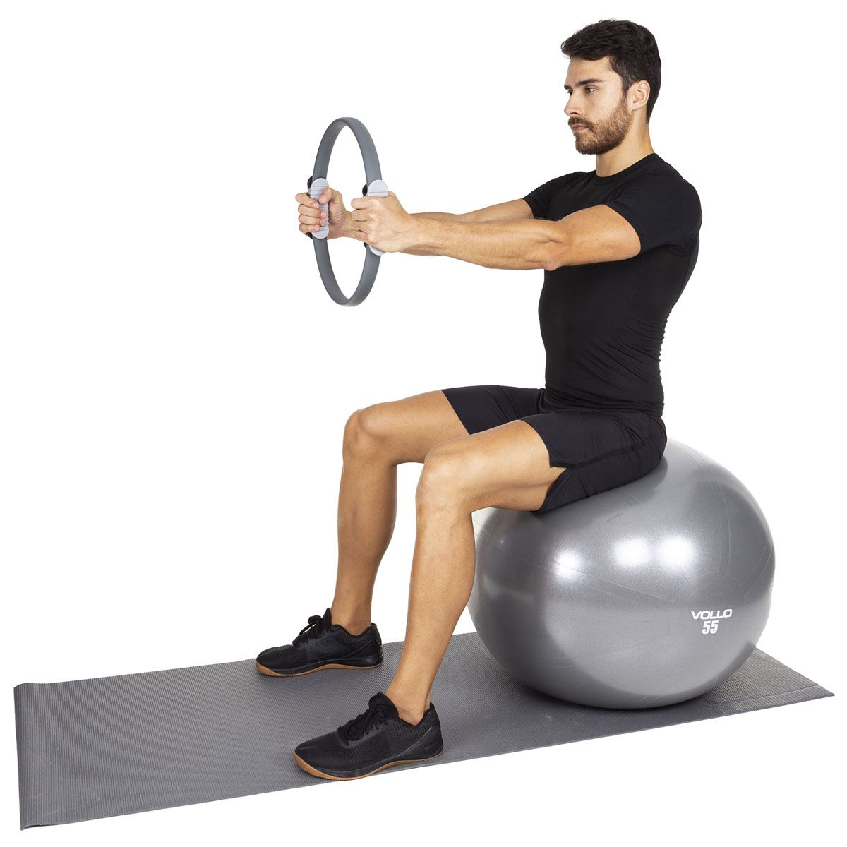 Anel de Pilates Cinza 38 cm - Vollo
