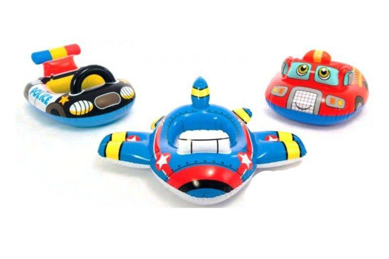Baby Bote Kiddie Boia Inflável Policia Bombeiro Avião Intex