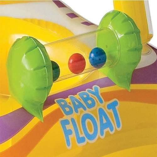 Baby Bote Kiddie Com Cobertura Boia Inflável Amarela Intex