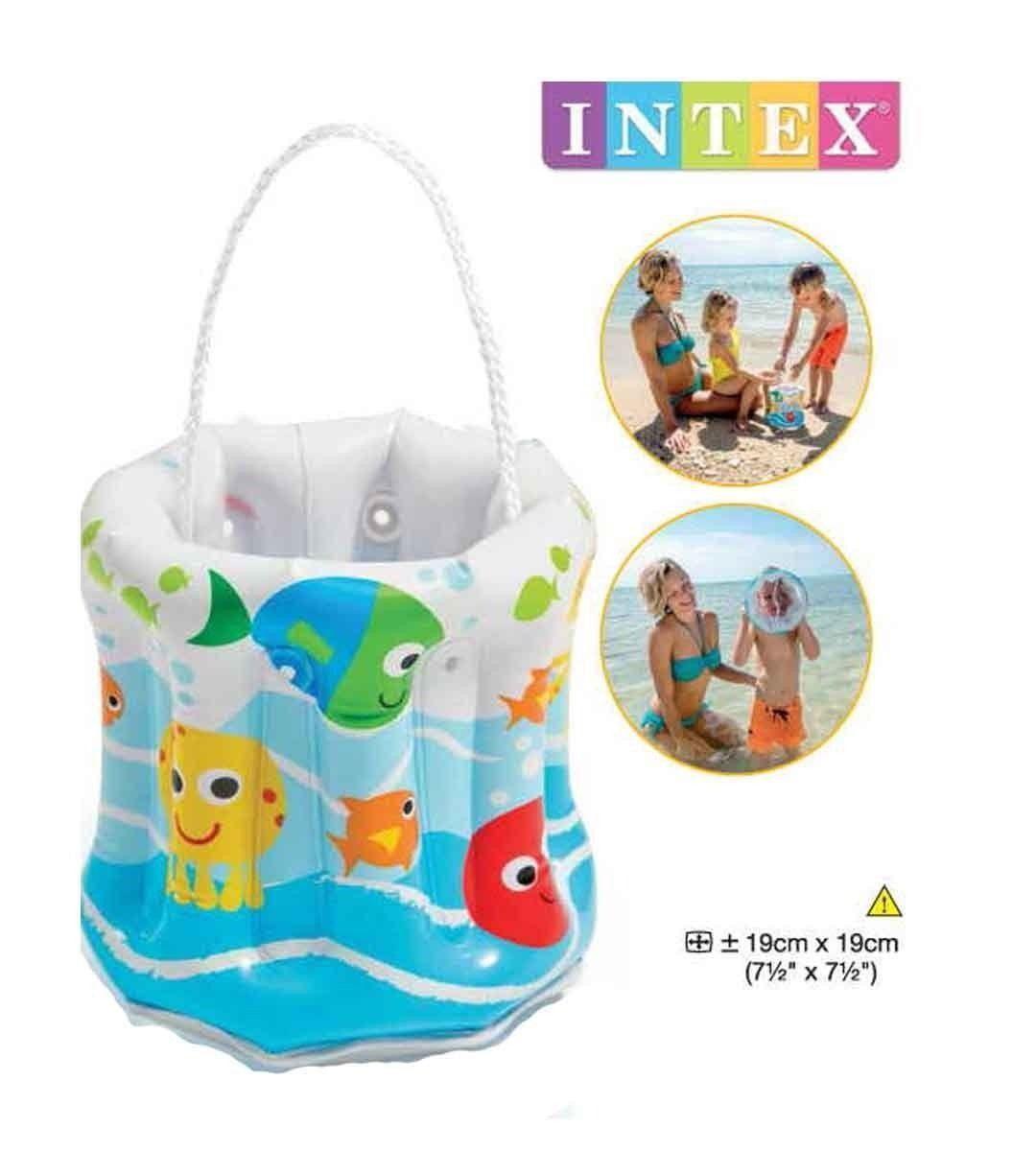 Balde Baldinho Inflável Praia Piscina Infantil Intex 58681