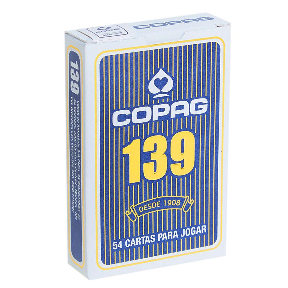 Baralho Copag Original 139 Tradicional Class Profissional Azul
