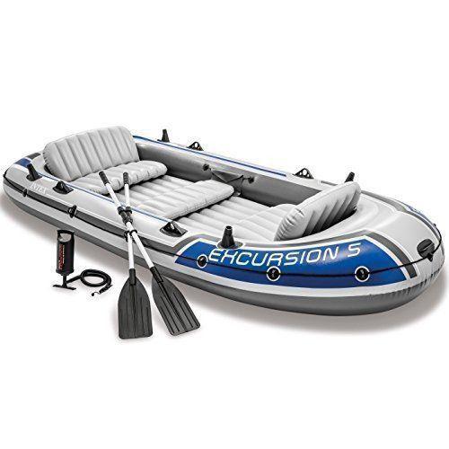 Barco Bote Inflável Excursion 5 - Intex Remos E Bomba