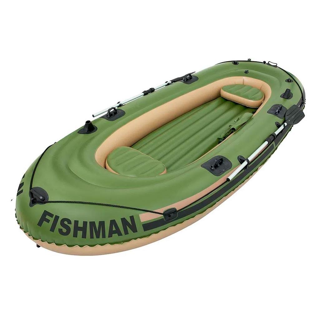 Barco Inflável Fishman 400 + Par de Remos De Alumínio Mor