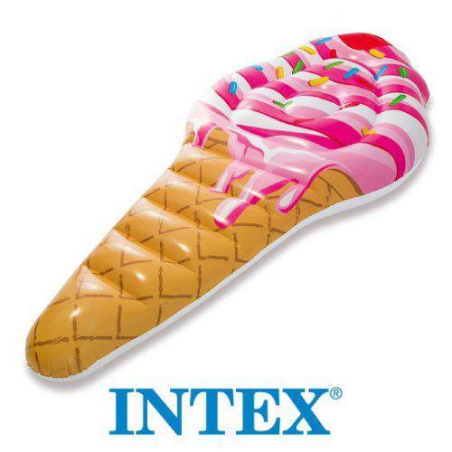 Boia Colchão Ice Cream Bronzeador Inflável Piscina Intex 58762