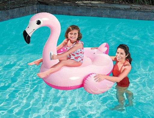 Boia Divertida Inflável Pink Flamingo 1,45m x 1,21m Bestway 41099
