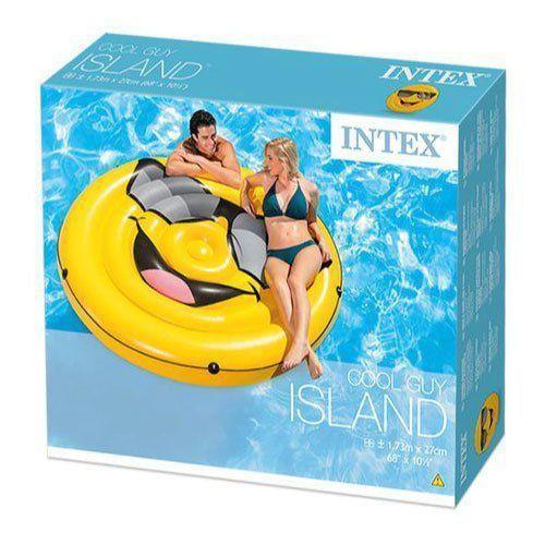 Bóia Ilha Inflável Emoji Piscina 57254 intex