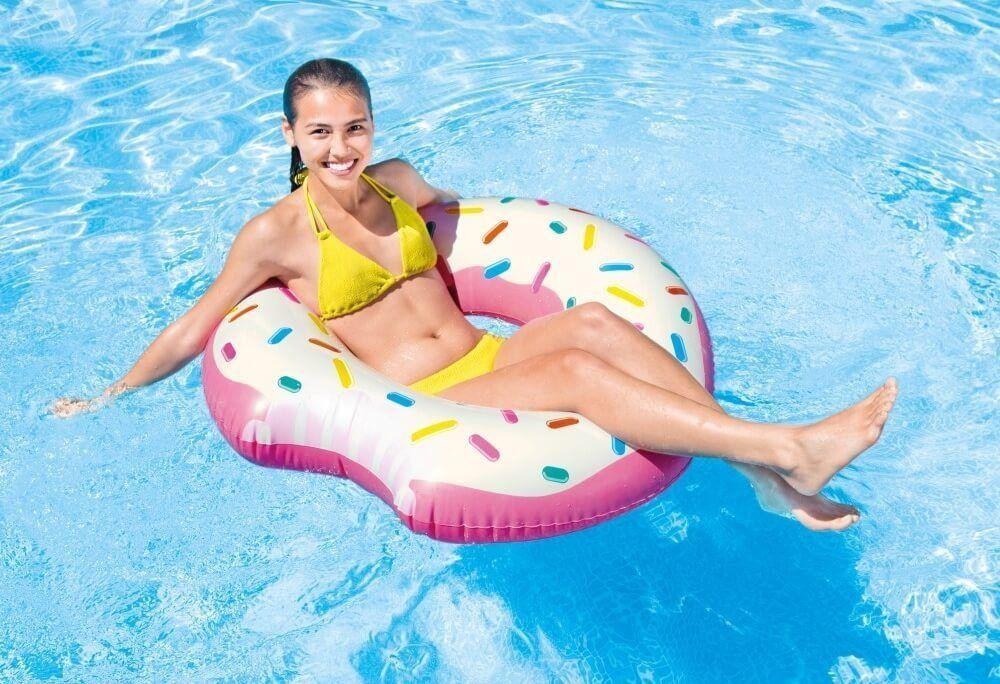Boia inflável Donut 107cm de Diâmetro Intex