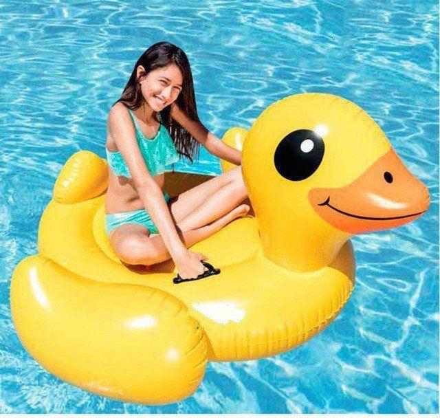 Boia inflável Grande Pato Amarelo 147cm  Intex