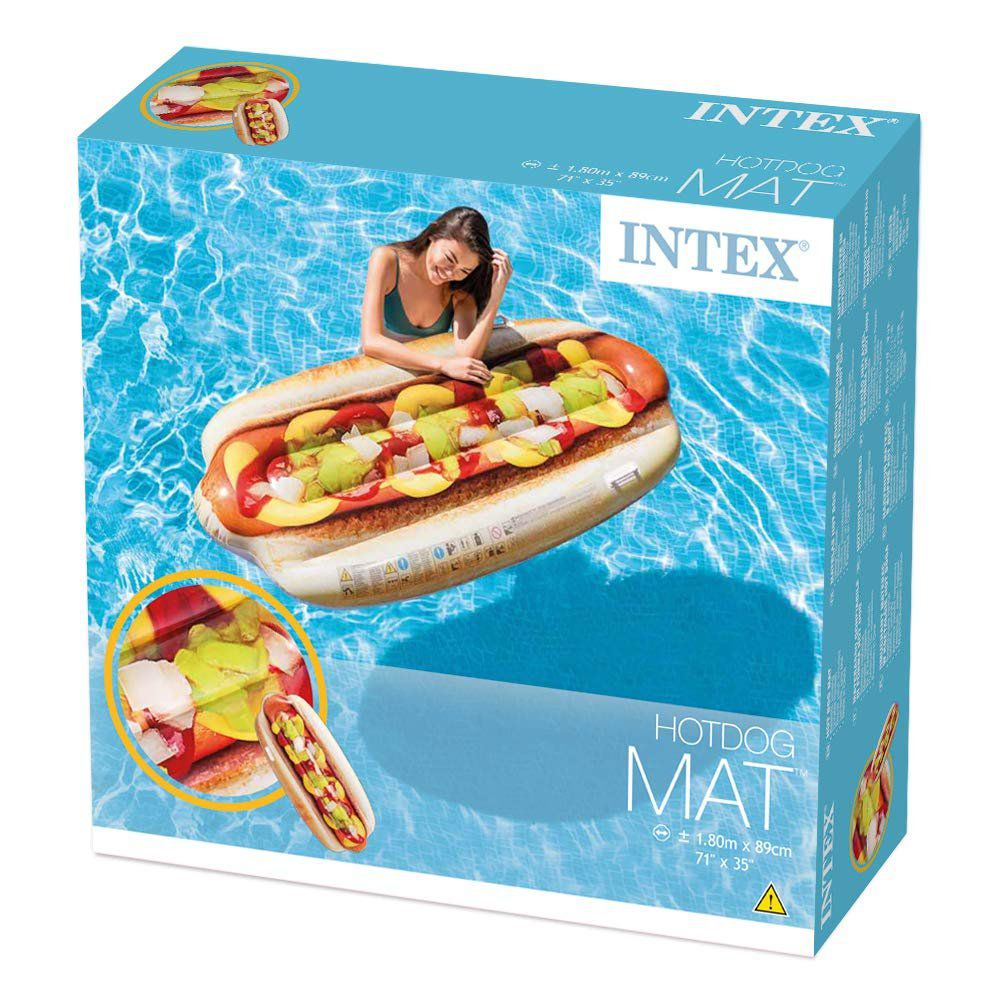Bóia Inflável para Piscina Hot dog intex 58771
