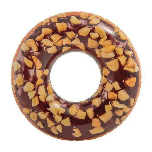 Bóia Inflável Redonda Donut Chocolate Intex 56262