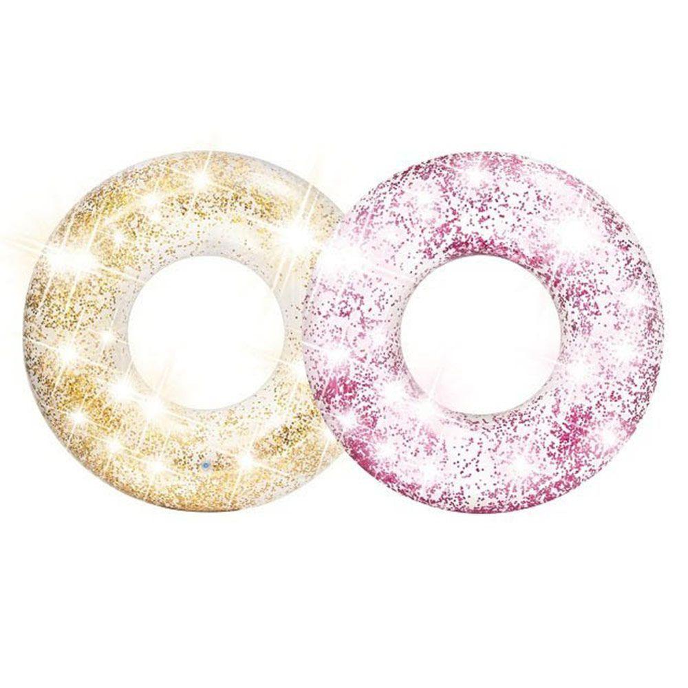 Bóia Inflável Redonda Glitter 191cm Intex