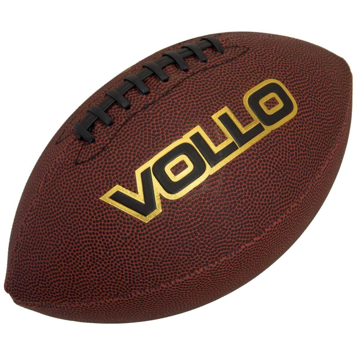 Bola de Futebol Americano Marrom Tamanho Oficial Vollo