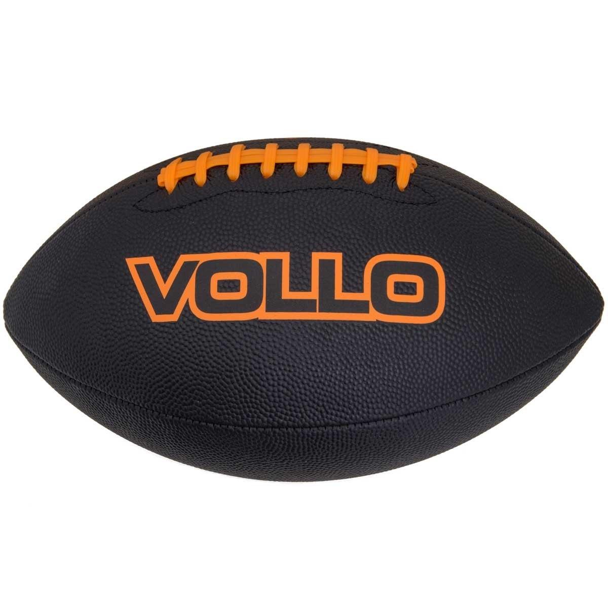 Bola de Futebol Americano Preta Tamanho Oficial Vollo