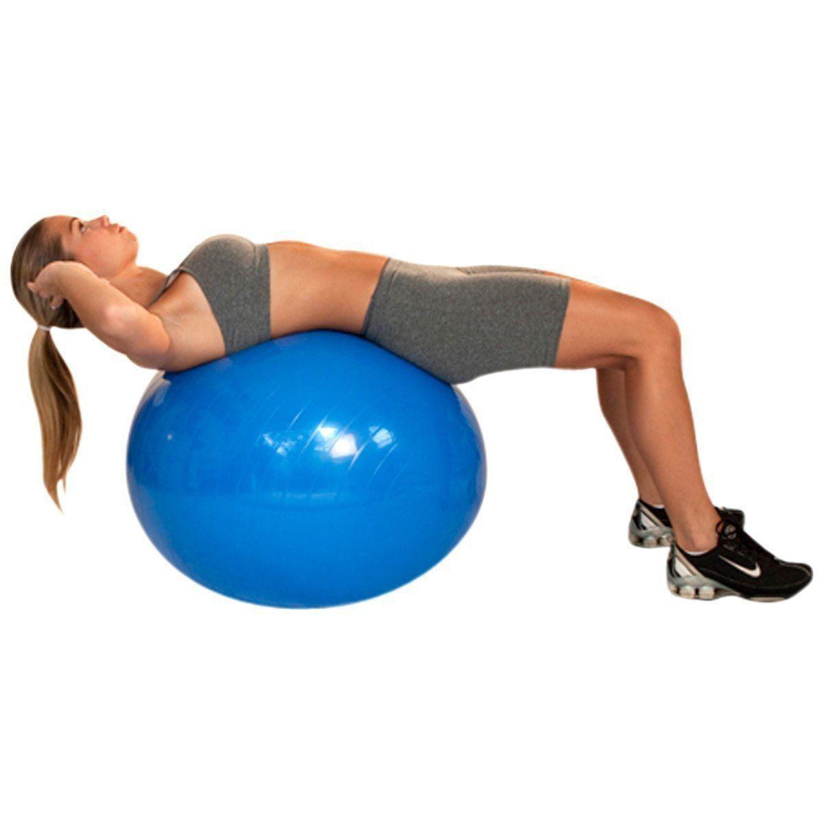 Bola de Pilates 65cm Gym Ball  com Bomba de Ar até 300Kg  - Acte Sports