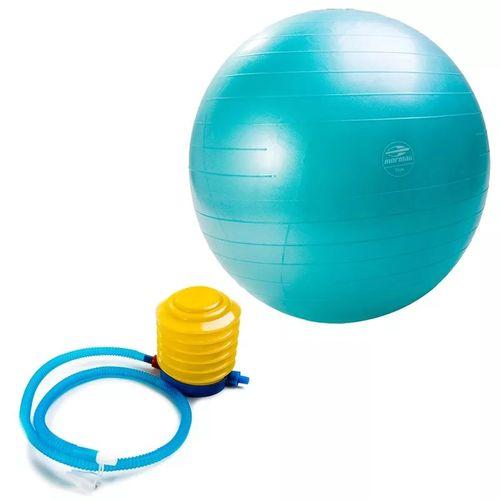 Bola Suiça 55cm Ball Anti-Burst Fit Azul - Mormai