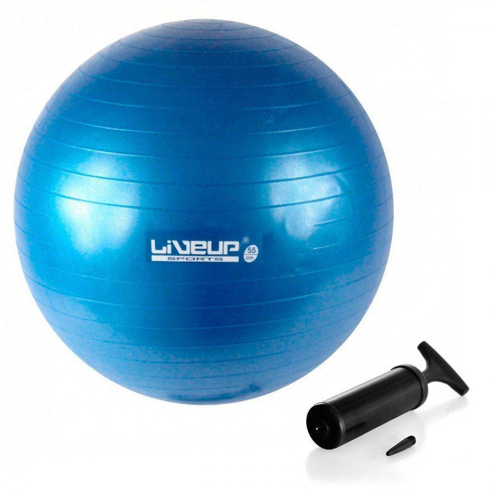 Bola Suiça Azul 65cm Premium Com Bomba - Liveup