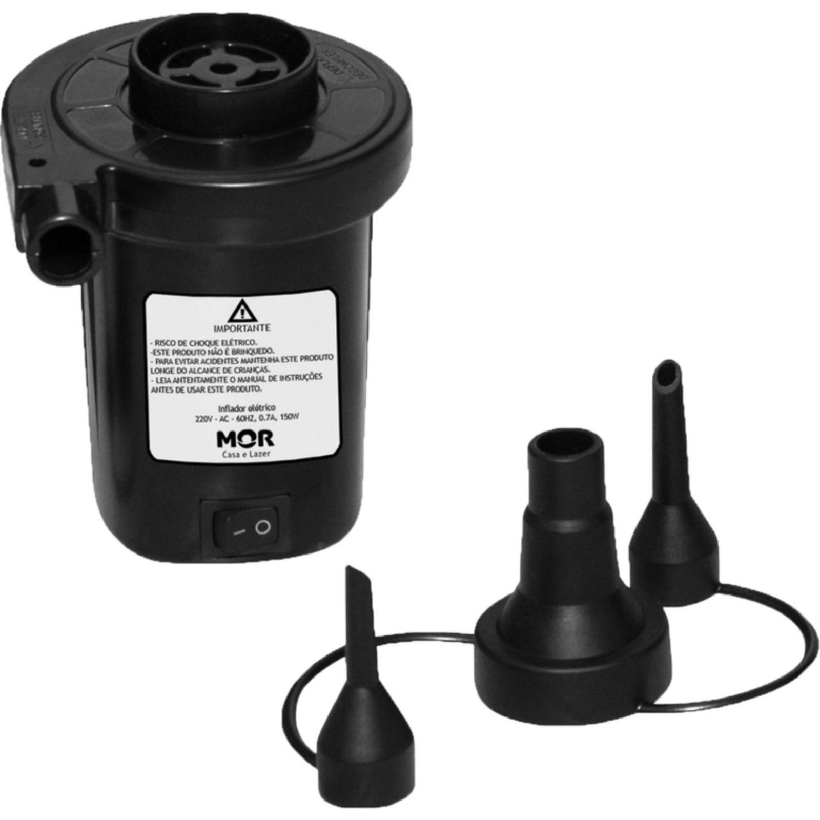 Bomba de Ar Elétrica Infla/Desinfla Com Adaptadores Mor