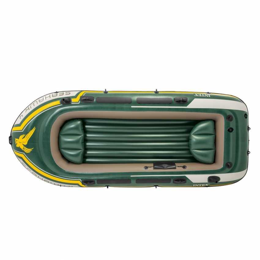 Bote Inflável Intex Seahawk 4 Pessoas 400 Com Remos