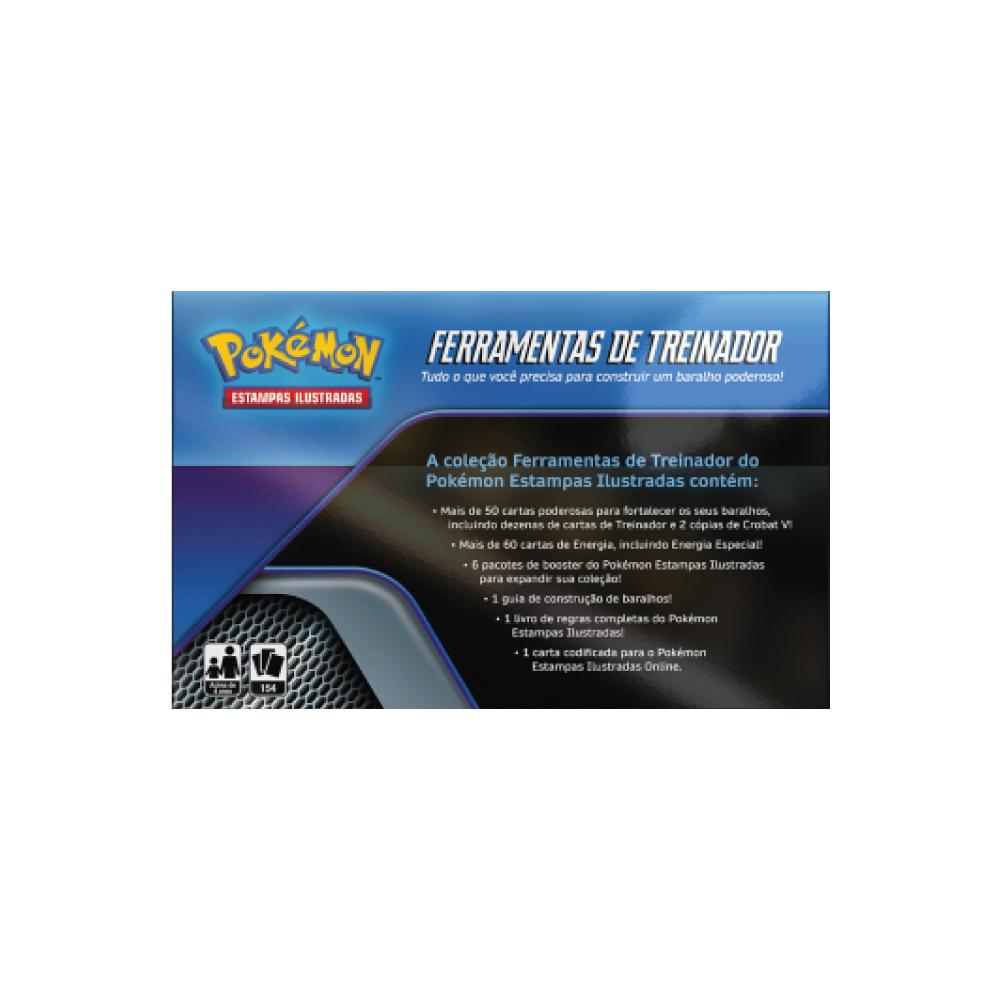 Box Pokémon Ferramentas De Treinador + Crobat V 154 Cartas