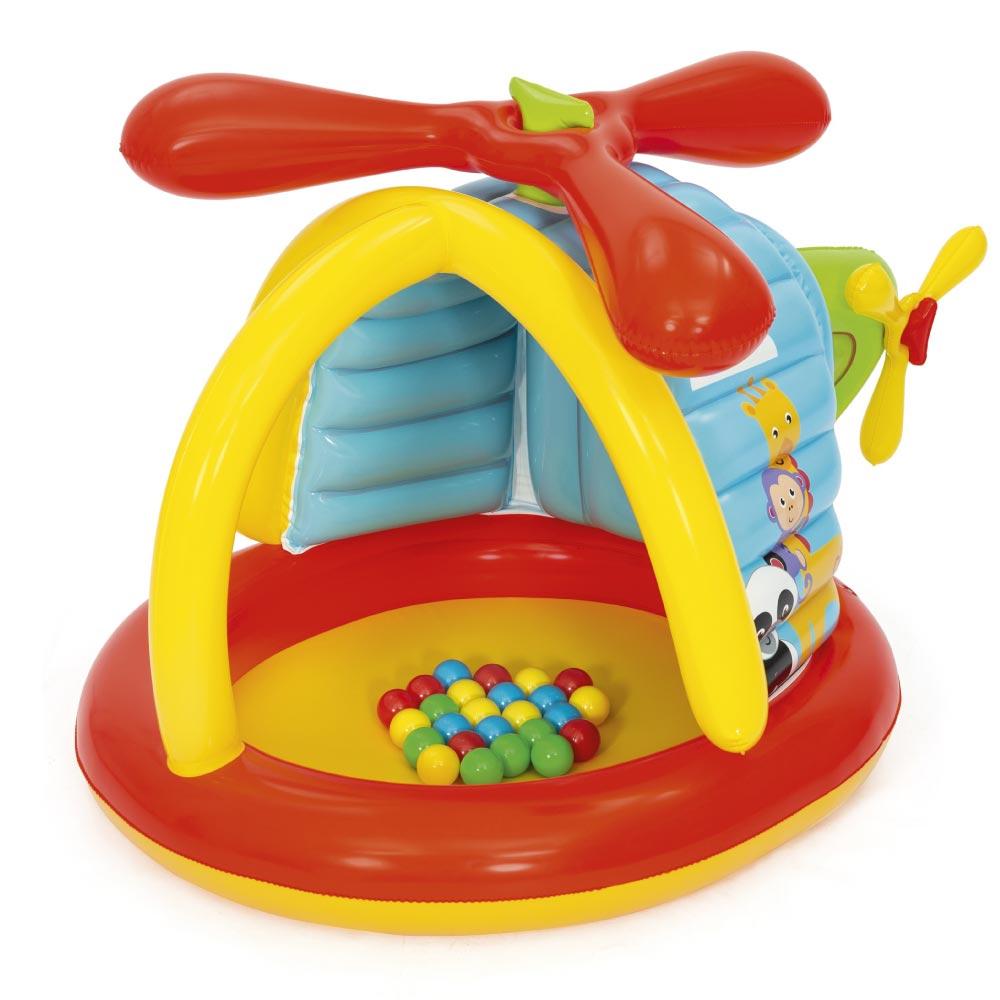 Brinquedo Helicoptero Inflável com 25 Bolinhas Fisher Price
