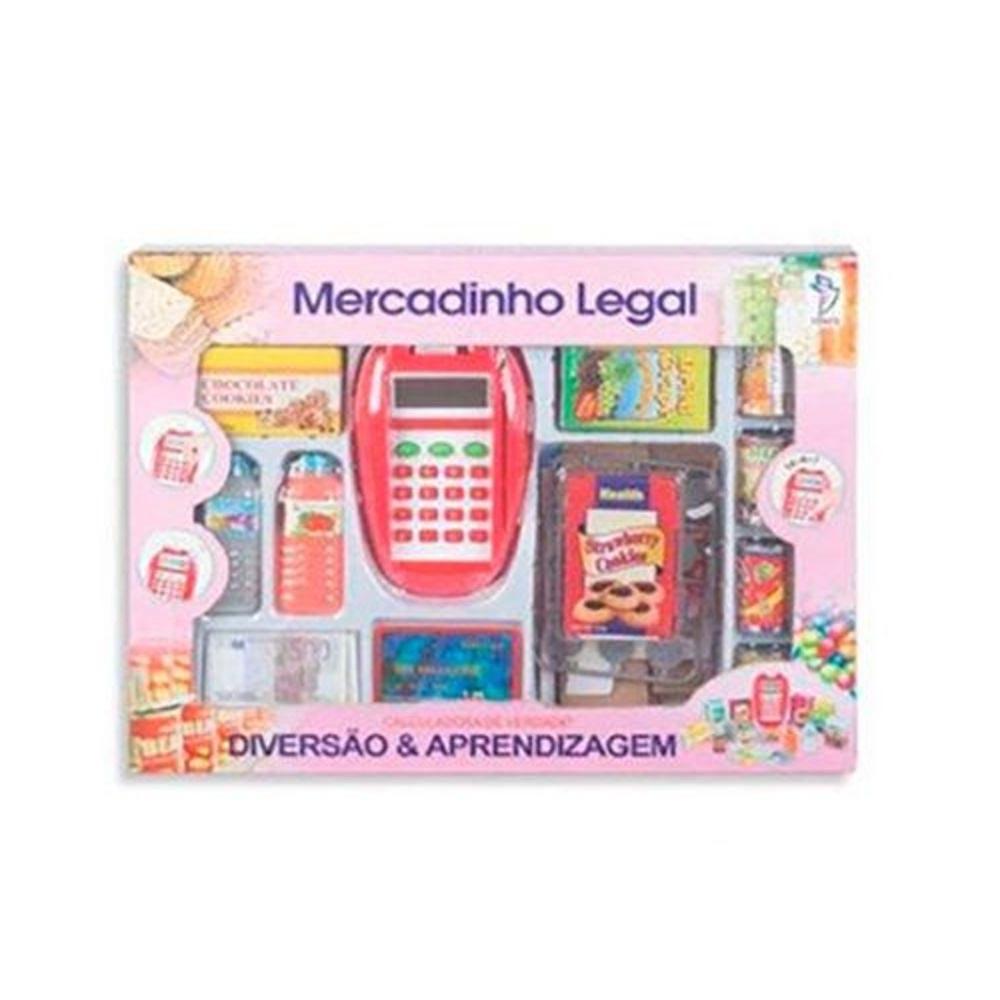 Brinquedo Infantil Mercadinho Legal Com Acessórios Fenix