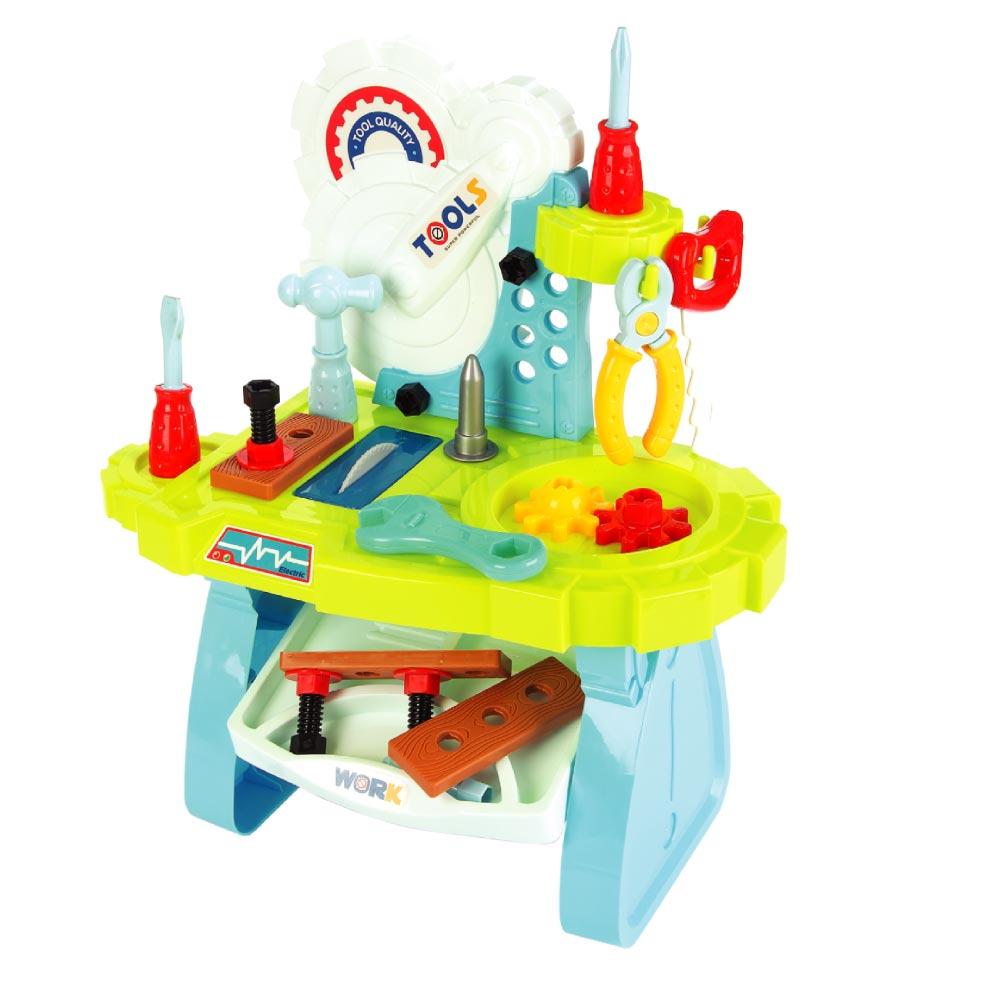 Brinquedo Mesa de Ferramenta 33 Peças Infantil