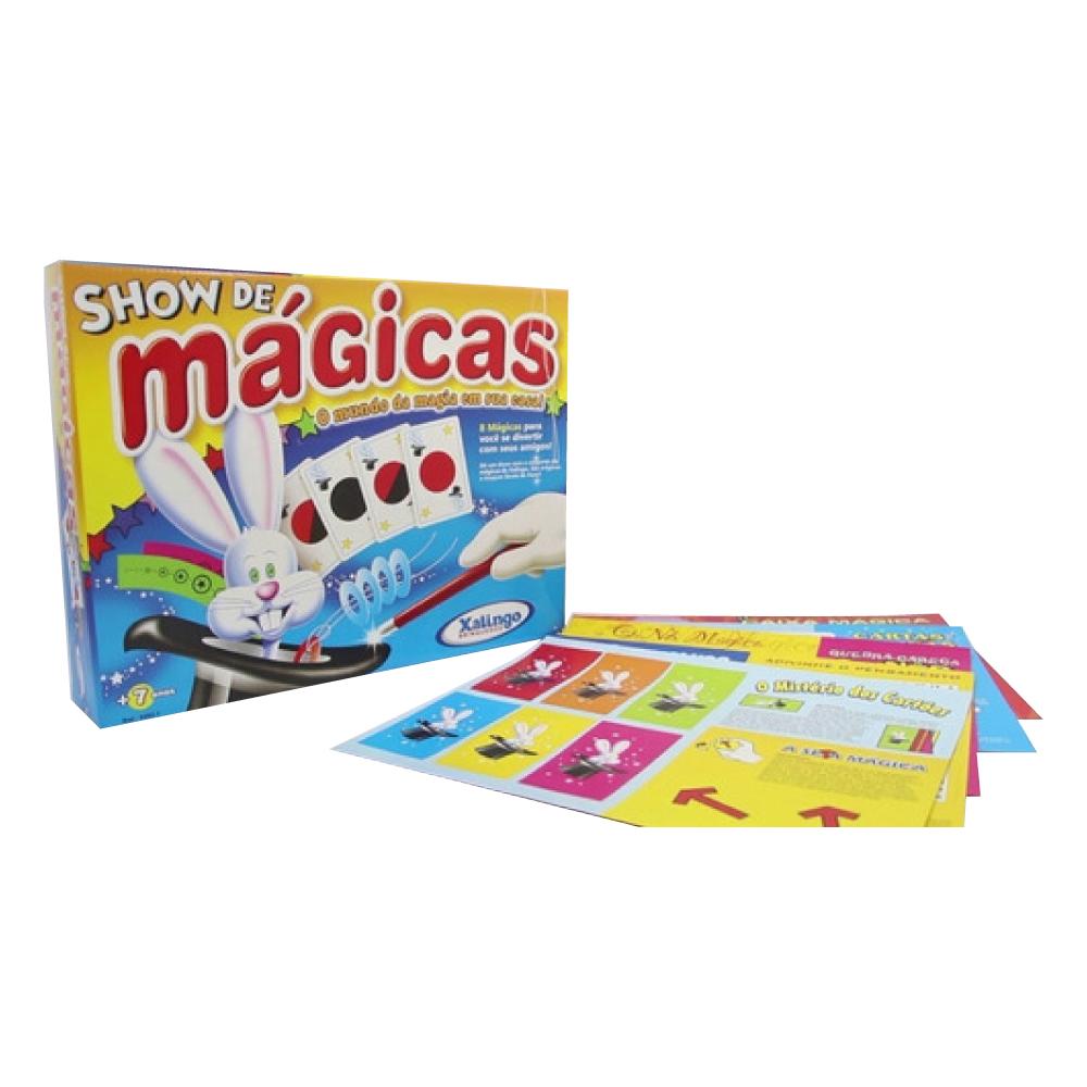 Brinquedo Show de Mágicas com 8 Truques Xalingo